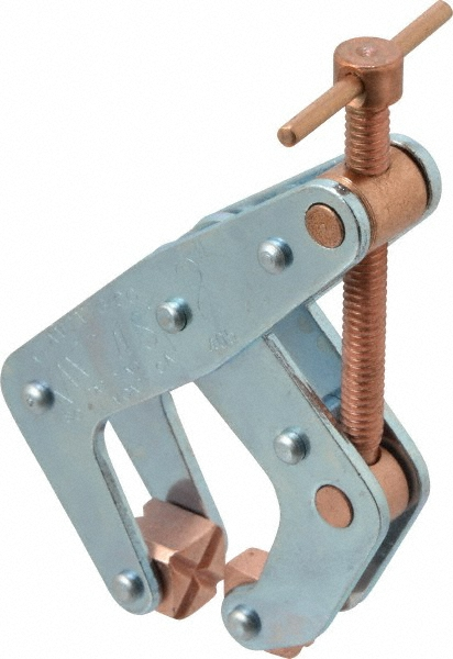 1//2 Throat Depth 1 Max Opening Capacity Opened Opened Kant Twist Copper Plated Cantilever Clamp 1//2 Throat Depth